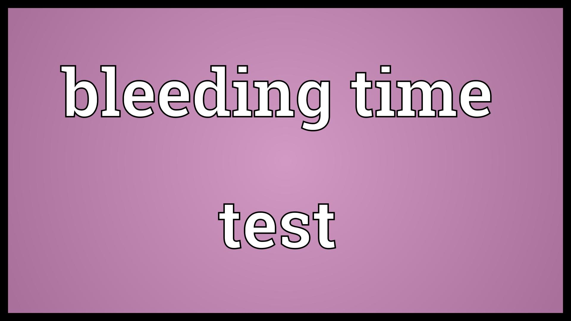 Get 10% Off on Bleeding Time Test at Spandana Diagnostics Laboratory