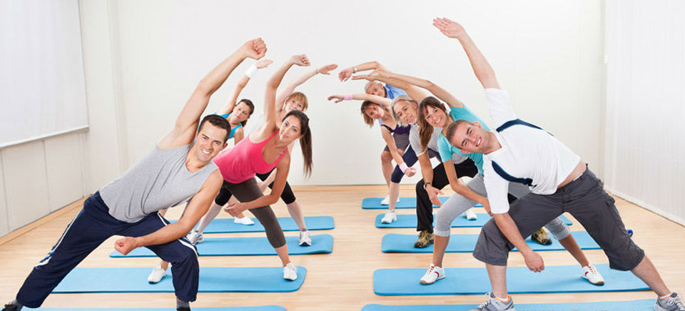 How does aerobics help one stay fit?