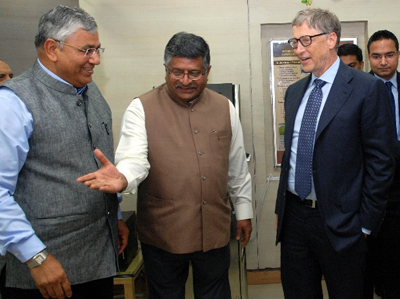 Bill Gates meets IT Minister to discuss his foundation's collaboration with Digital India