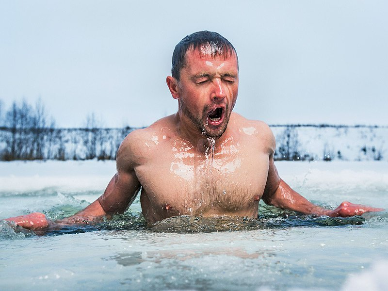 Cold open water plunge provides instant pain relief, case reports suggest