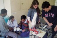 Specialist who fits artificial legs for amputees