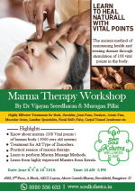Soulkshetrta Wellness Clinic Offering 3 Days Exclusive Course on Marma  Chikitsa