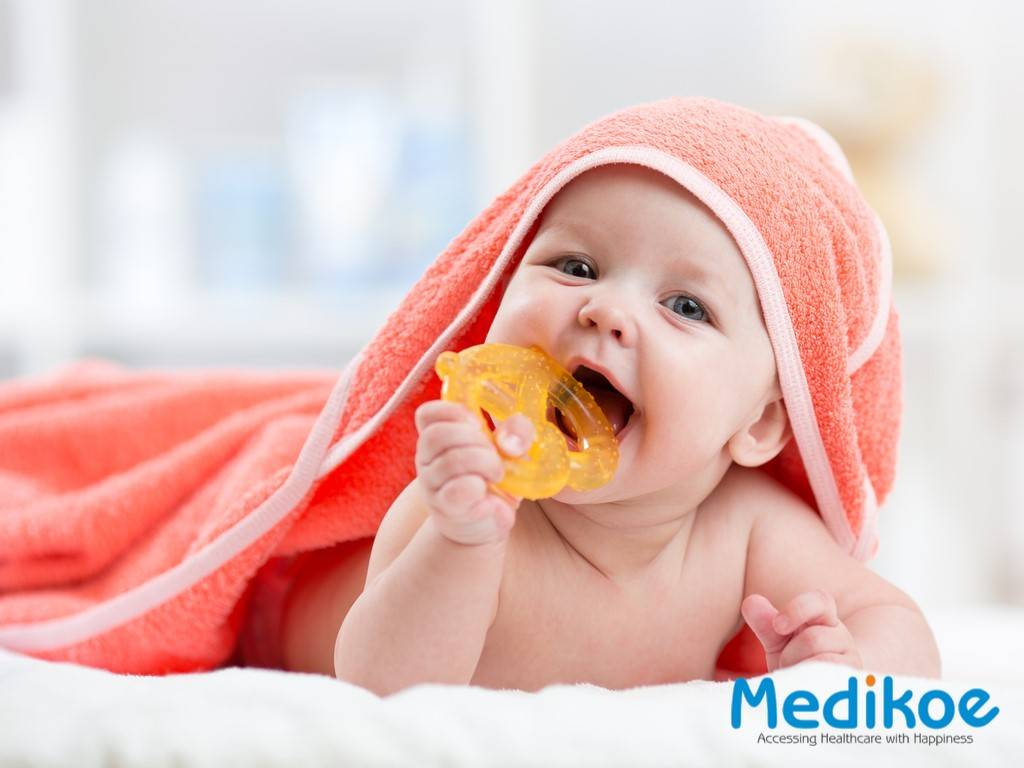 Is teething in infants connected to loose stools?